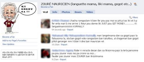 Swearing on facebook
