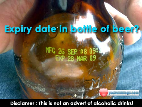 Picture of the day : Expiry Date on Beer