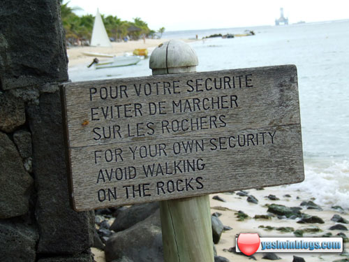 Avoid walking on the rocks!