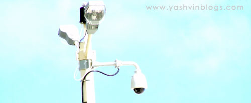 Video cameras at Flic En Flac