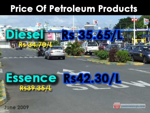 Price of Petrol June 2009