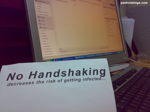 no handshaking