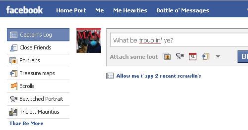 Facebook Pirate Home