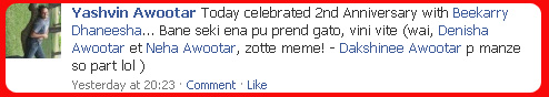 anniversary on facebook