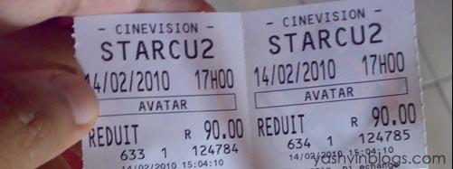 Avatar ticket