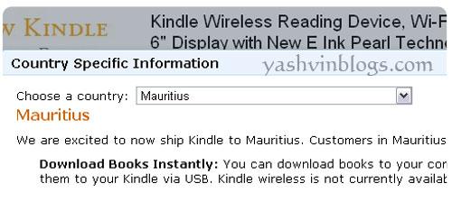Amazon Kindle now ships to Mauritius! – Yashvinblogs