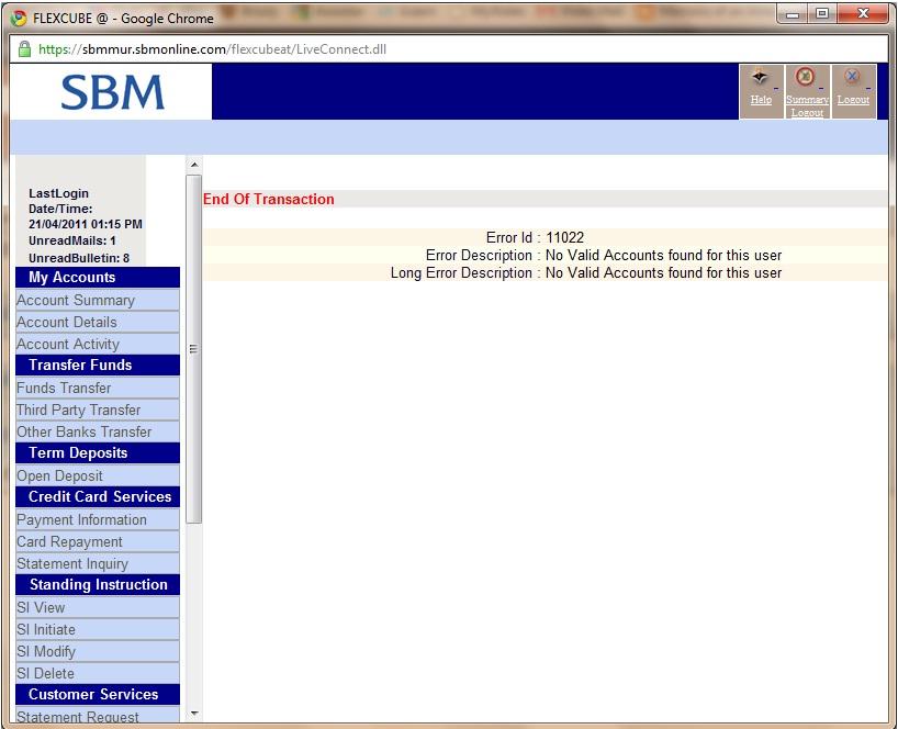 internet banking application sbm
