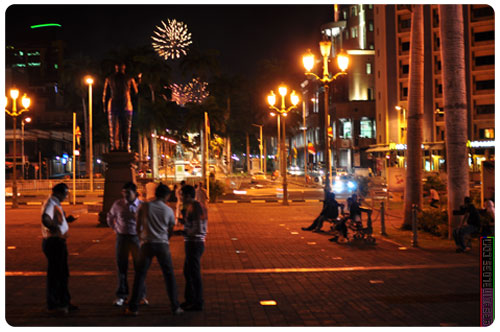 A look at the fireworks from Port Louis waterfront