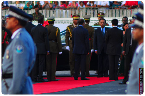 Arrival of the President