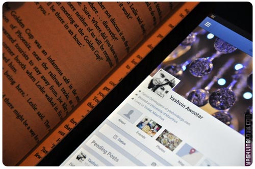 Using Facebook on the nexus 7