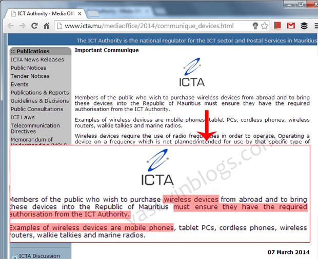 ICTA-communique-mobile