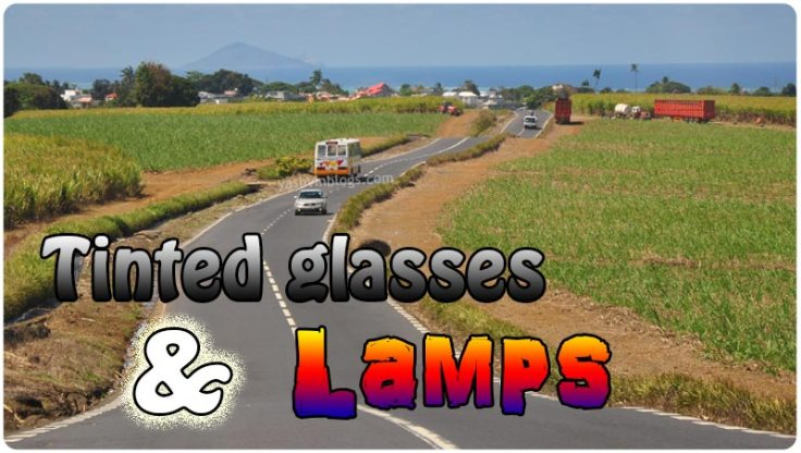 tinted glasses and lamps
