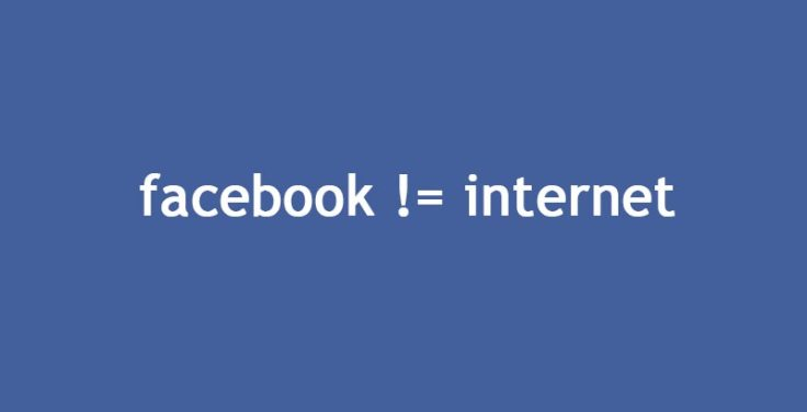 facebook is not the internet