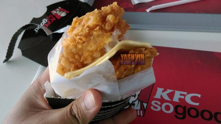 KFC Double Down - In my hands