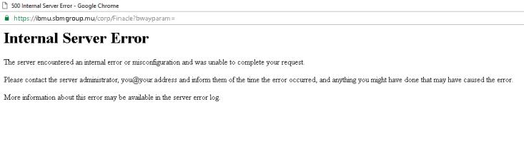 internal error